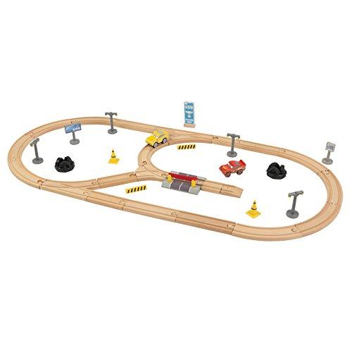 Disney Pixar Cars 3 Autorennbahn-Set aus Holz