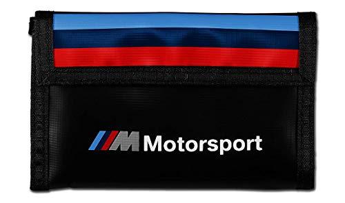 Original BMW M Motorsport Geldbörse mit Kartenschlitzen und Klettverschluss - 80212461148