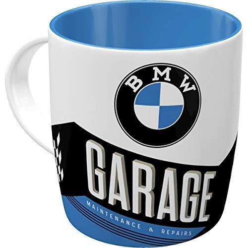 Nostalgic-Art Retro Kaffee-Becher - BMW - Garage, Große Lizenz-Tasse mit BMW-Motiv, Vintage...