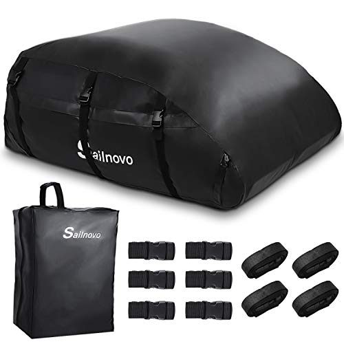 Sailnovo Dachbox, 580L Faltbare Auto Dachkoffer Gepäckbox Wasserdicht Tragbar Dachboxen...