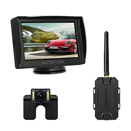 AUTO-VOX M1W Wireless Backup Kamera-Kit,Rückfahrkamera drahtlos, IP68 Wasserdicht LED Super...