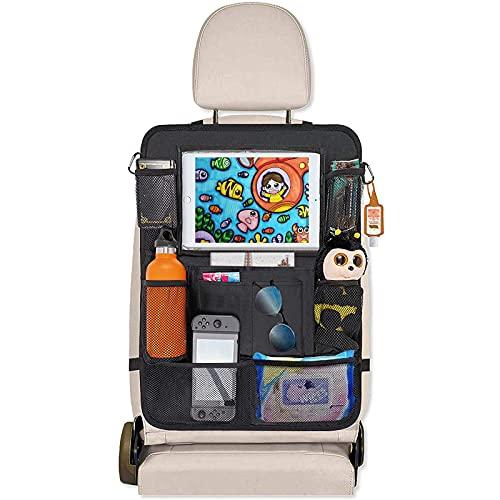 HONZUEN Auto Rückenlehnenschutz Rücksitz Organizer für Kinder, 600D Oxford Stoff Wasserdicht...