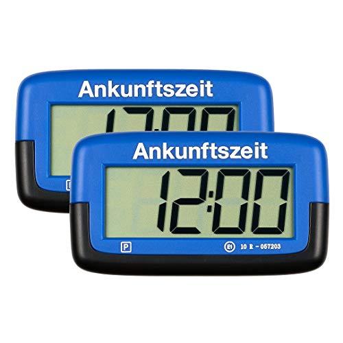 2X Needit Park Micro Digitale Parkscheibe Mikro elektronische Parkuhr mit offizieller Zulassung (blau),...