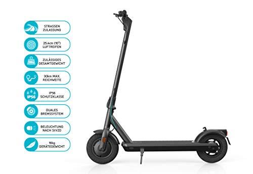 ODYS αlpha X10 Faltbarer E-Scooter mit Straßenzulassung (max. Geschwindigkeit 20 km/h, bis zu 30 km...