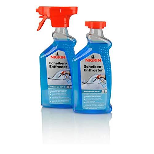 Scheiben-Entfroster Sprühflasche 1x500ml + 1x500ml Nachfüllflasche, Scheiben-Enteiser-Spray,...