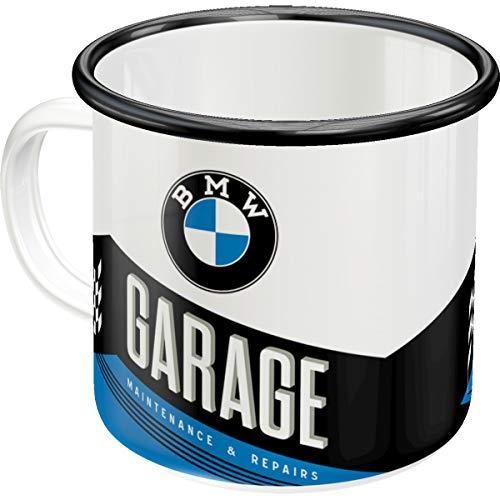 Nostalgic-Art 43216 Retro Emaille-Becher BMW – Garage – Geschenk-Idee für Auto- und...