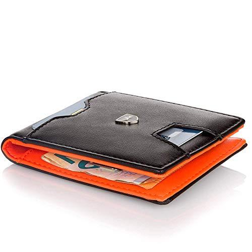 Kronenschein® Premium Herren Geldbörse mit Geldklammer Portemonnaie Männer Geldbeutel Slim Wallet...