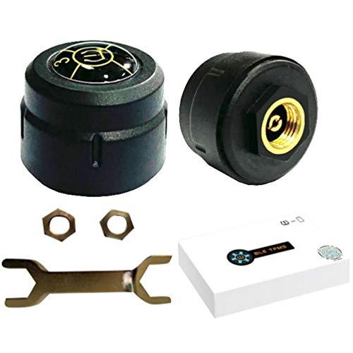 WINOMO Reifendruckkontrollsystem Motorrad TPMS Wireless Sensor Reifendruck Werkzeug Motorrad Externer...
