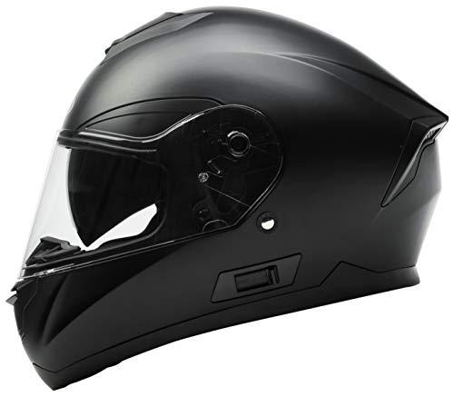 Motorradhelm Integralhelm Rollerhelm Fullface Helm - YEMA YM-831 Sturzhelm ECE mit Doppelvisier...