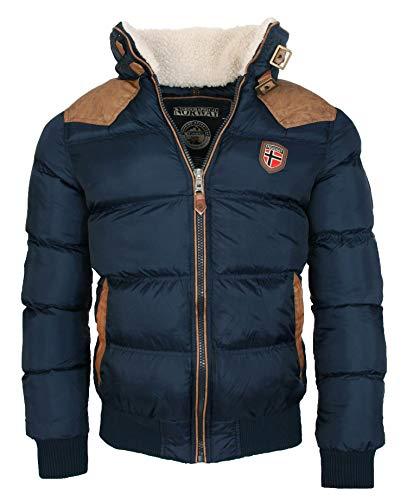 Geographical Norway warme Winterjacke Designer Herren Winter Stepp Jacke [GeNo-31-Navy-Gr.2XL]