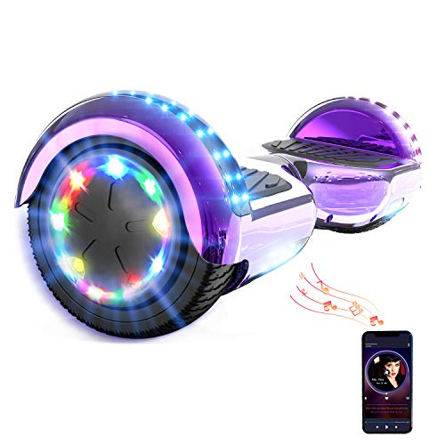 HITWAY 6.5Zoll Hoverboard LED Elektro Scooter Bluetooth 6,5 Zoll Elektro Scooter Self Balance Scooter...