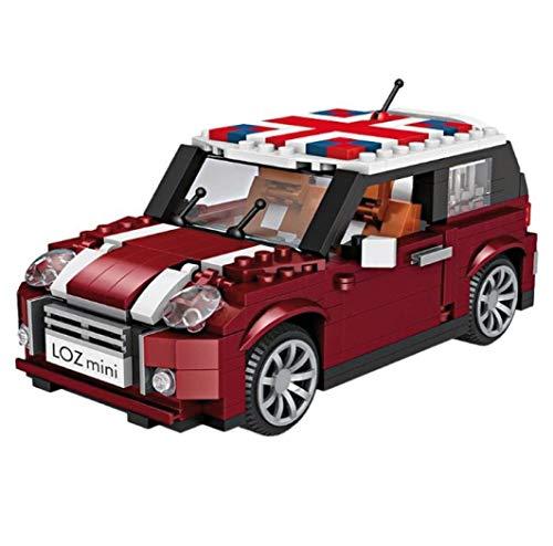 LOZ Automodell zum Zusammenbau mit Miniblöcken. Mini-Büfflerauto,. Maßstab 1:24.