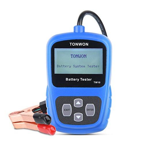 TONWON Batterietester 12V Autobatterie BelastungsTester Batterie Ankurbelungs Spannung und Lade System...