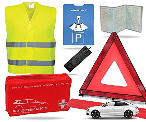 TK Gruppe Timo Klingler 8 in 1 Sicherheit Set 2021 Auto KFZ Warnweste, Warndreieck, Verbandskasten,...