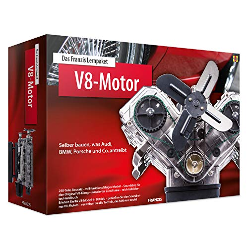 Das FRANZIS Lernpaket V8-Motor: Selber bauen, was Audi, BMW, Porsche und Co. antreibt   250-Teile-Bausatz...