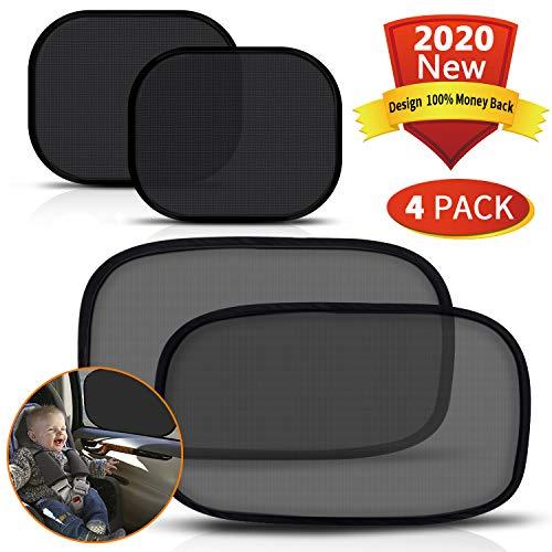 PEYOU Sonnenschutz Auto, [4 Stück] Sonnenschutzrollos Auto Baby mit UV Schutz, transparentes (500 * 300)...