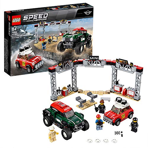 LEGO Speed Champions 75894 - 1967 Mini Cooper S und 2018 Buggy Mini John Cooper Works, Rallyeauto