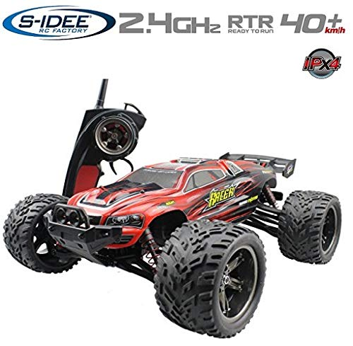 s-idee® 18160 9116 RC Auto Buggy wasserdichter Monstertruck 1:12 mit 2,4 GHz über 40 km/h schnell,...
