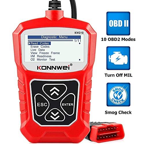 KONNWEI KW310 OBD2 Diagnosegerät Universal Auto Diagnosegerät Automotor Fehler-Code Scanner für 16-Pin...