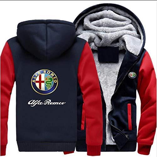 Herren Pullover Jacken New Alfa Romeo Druck Beiläufige Winter-mit Kapuze Baseball Uniformen-Warm Zip...