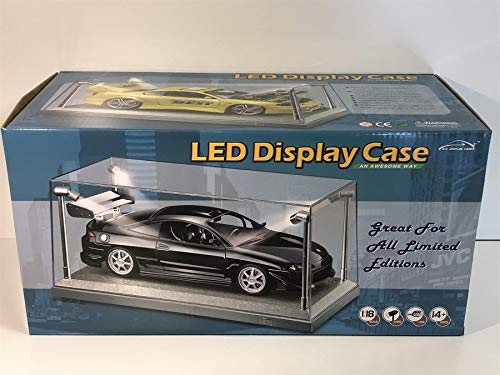 Triple 9 - T9 - 189922 - Vitrine für Modellautos- 1:18 - LED - Plexiglass/Silber
