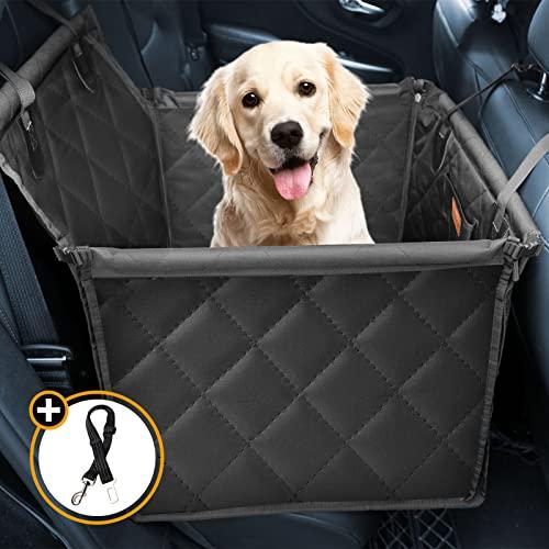 Looxmeer Hunde Autositz für Kleine Mittlere Hunde, Hundesitz Auto Autositzbezug mit Sicherheitsgurt und...