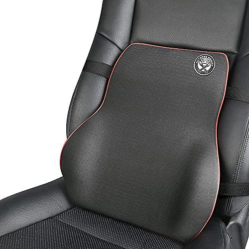 Lordosenstütze Auto, Rückenkissen Memory Foam Lendenwirbelstütze Für Auto Bürostuhl-Schwarz
