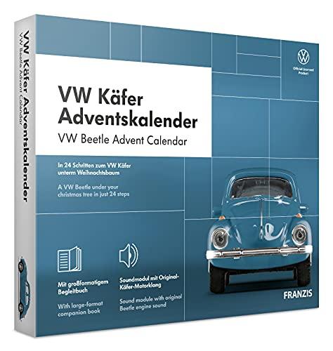 FRANZIS 67098 - VW Käfer Adventskalender 2020 – In 24 Schritten zum VW Käfer unterm Weihnachtsbaum,...
