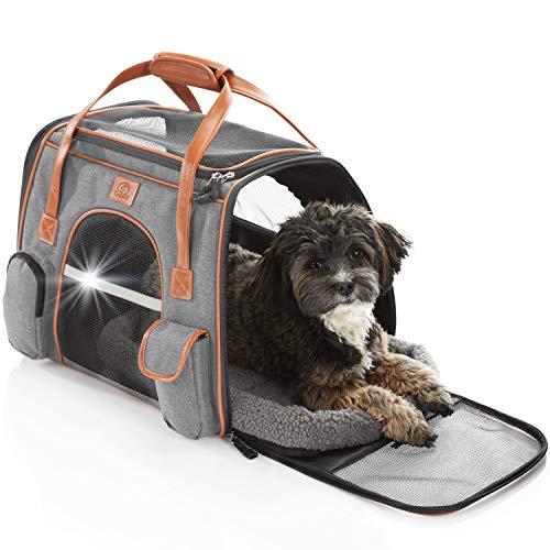 Tierhood Hundebox aus Stoff - Luxusdesign - Hundetasche für kleine Hunde bis 7kg - für Auto und Reisen...