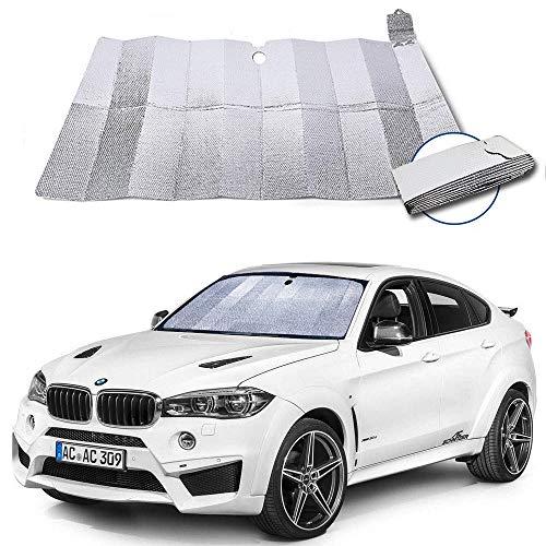 Dobee Auto Sonnenschutz Frontscheibe, Aluminiumfolie Windschutzscheibe Sonnenblende UV-Schutz...