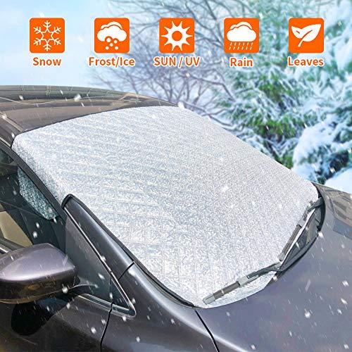 Frontscheibenabdeckung, Scheibenabdeckung Auto Sonnenschutz Abdeckung Fixierung Faltbare...