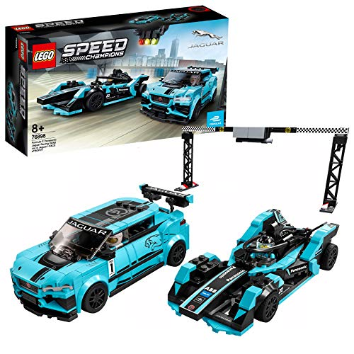 LEGO 76898 Speed Champions Formula E Panasonic Jaguar Racing GEN2 car & Jaguar I-PACE eTROPHY...