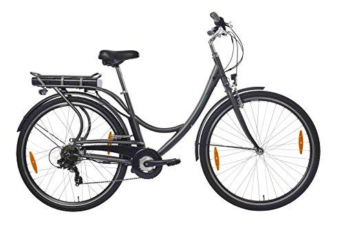 Teutoburg Senne Pedelec Citybike leicht Elektrofahrrad, 28 Zoll, mit 6-Gang Shimano Kettenschaltung, 250W...