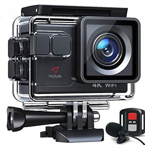 Victure AC700 Action Cam 4K WiFi 20MP wasserdichte 40M Unterwasserkamera helmkamera mit EIS Sensor, 2.4G...