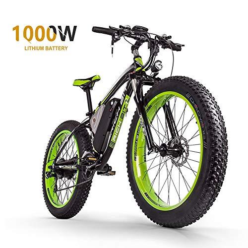 Sea blog Fettreifen Elektrofahrrad Mountainbike 26' E-Bike mit 48V 16Ah/1000W Lithium-Batterie und...