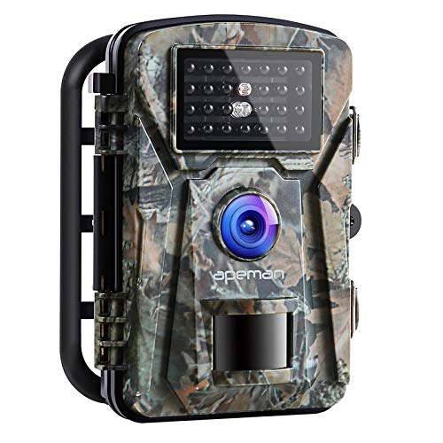 APEMAN Wildkamera Fotofalle 1080P Full HD 16MP Jagdkamera Weitwinkel Vision Infrarote 20m Nachtsicht...