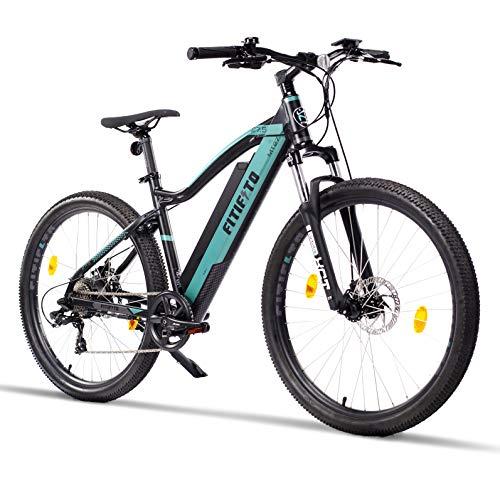 Fitifito MT27,5 Elektrofahrrad Mountainbike E-Bike 48V 250W Heckmotor, 48V 10.4Ah 499W Lithium-Ionen Akku