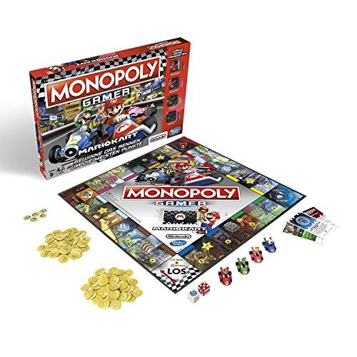 Monopoly Gamer Mario Kart, Gesellschaftsspiel für Erwachsene & Kinder, Familienspiel, der Klassiker der...