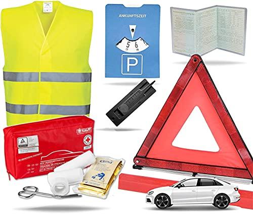 TK Gruppe Timo Klingler 8 in 1 - Auto Erste Hilfe Set 2021 - kfz Verbandskasten Pkw - Verbandstasche &...