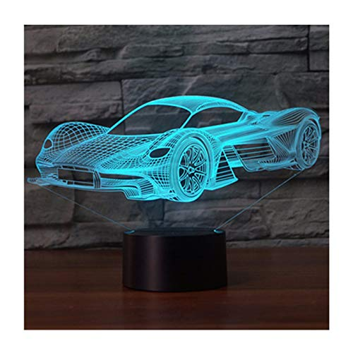 3D Illusion Lampe LED Nachtlicht, EASEHOME Optische 3D-Illusions-Lampen Tischlampe Nachtlichter 7 Farben...