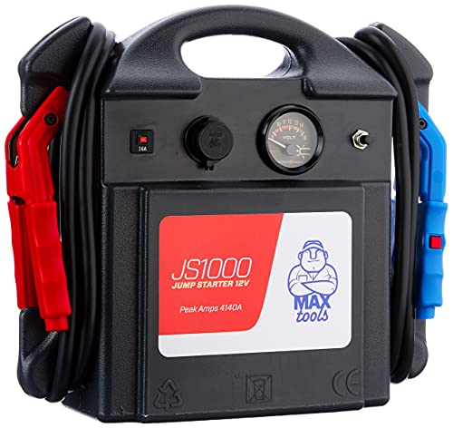 MAXTOOLS JS1000, Professioneller tragbarer Notstarter 1380A 12V 22Ah mit Einschaltstrom 4140A,...