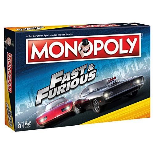 Winning Moves WIN44864 Monopoly: Fast & Furious, Mehrfarbig