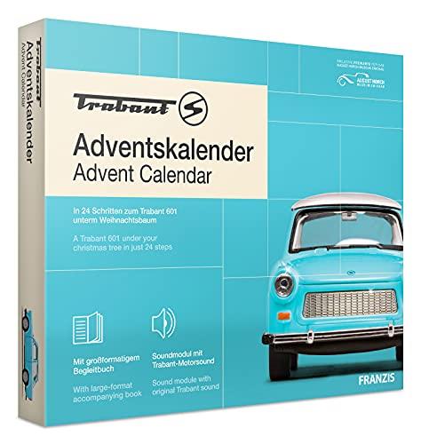 FRANZIS 67115 - Trabant Adventskalender 2020 – in 24 Schritten zum Trabant 601 unterm Weihnachtsbaum,...