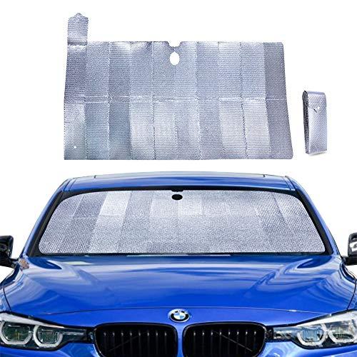 PowerTiger Auto Sonnenschutz für Frontscheibe, Aluminiumfolie Windschutzscheibe Sonnenblende Faltbare...