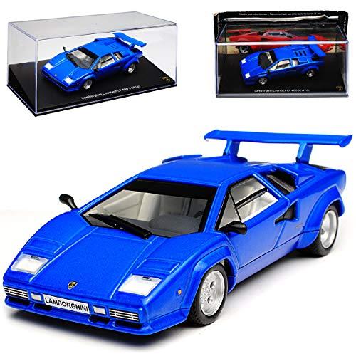 Atlas Lamborgihini Countach LP400 S Coupe Blau 1974-1990 1/43 Modell Auto mit individiuellem...