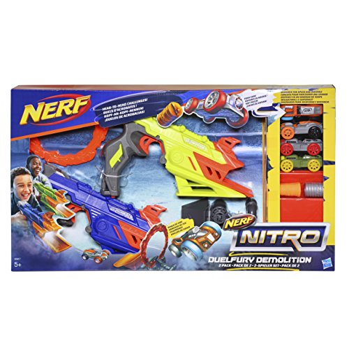 Hasbro Nerf Nitro C0817EU4 - DuelFury Demolition, Fahrzeugblasterset