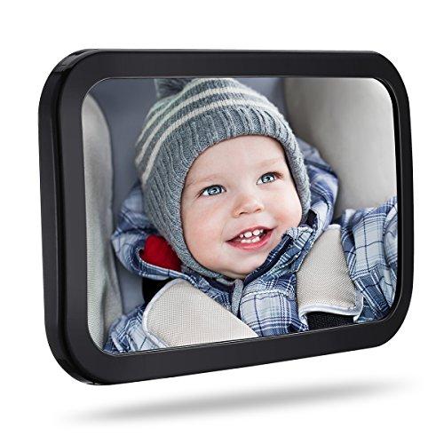 TOPELEK Rücksitzspiegel, Spiegel Auto Baby, Rückspiegel Baby Autospiegel Shatterproof Car Rückspiegel...
