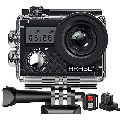 AKASO Action Camera/ 4K 20MP Action Kamera/Unterwasserkamera mit Bildstabilisierung Zoom Zeitraffer,30m...