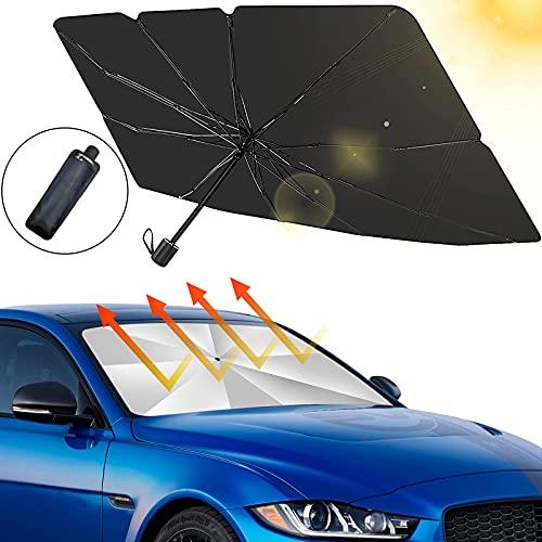 smatoy Sonnenschutz Auto Frontscheiben Faltbarer Sonnenblende, UV Schutz und Wärme Sonnenblendenschutz...