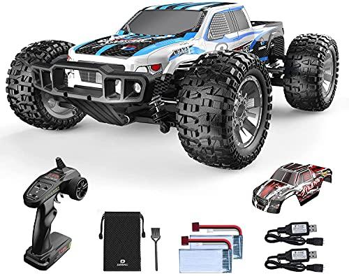 Ferngesteuertes Auto, DEERC 1:10 Offroad-Car 4WD 48 km/h Geländewagen-Spielzeug mit 2 Shell, 2 Akkus...